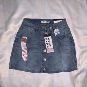 ALMOST FAMOUS Button Front Denim Skirt, NWT